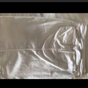 seven two denim Skirts - Seven two denim white maternity denim jean skirt